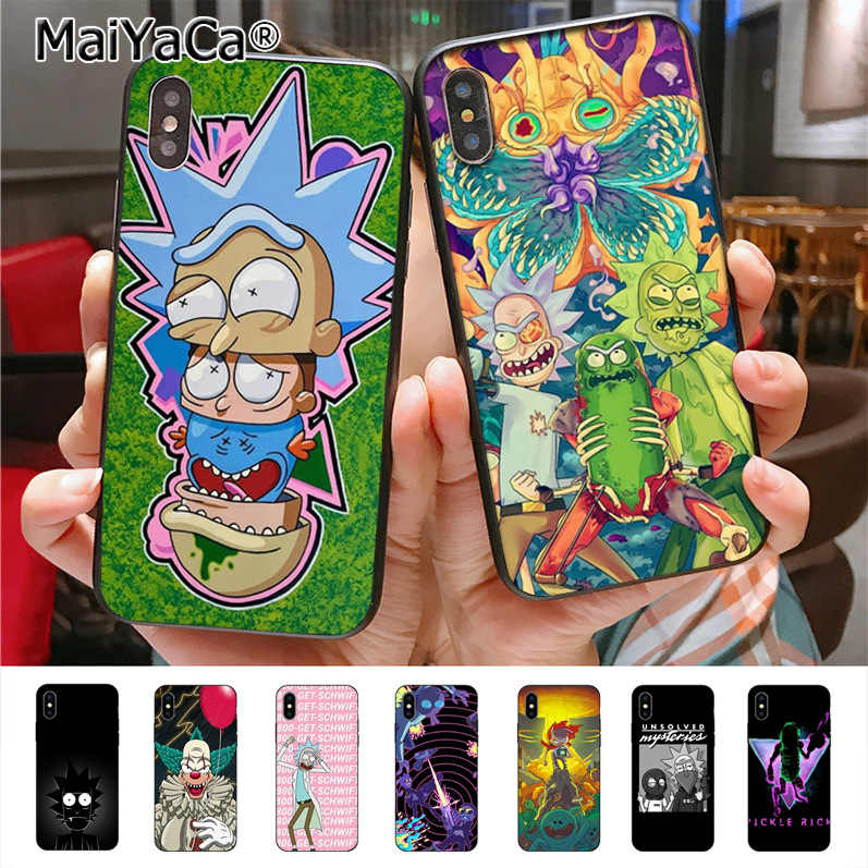 Maiyaca Rick dan Morty Phone Case untuk iPhone 11 Pro11 Pro Max X 8 7 6 6S PLUS 5 5S SE Cass