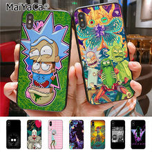 MaiYaCa Rick ve Morty telefon kılıfı için iphone 11 Pro11 Pro Max X 8 7 6 6S artı 5 5S SE cass(China)