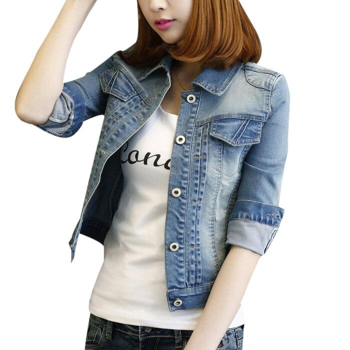 Uwback Denim Jacket Women 2017 New Spring Woman Jackets 5XL Windbreak Slim Plus Size Jeans Women Basic Jackets And Coats TB1069