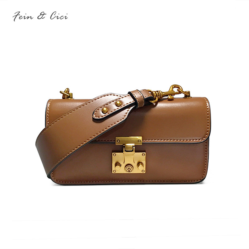 luxury flap bag large big strap you leather party messenger bags for ladies women 2018 new high quality brown black white color