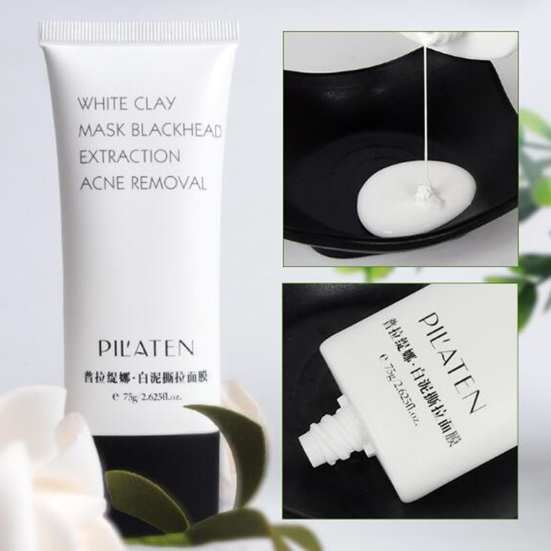 Pilaten 2pcs white clay for acne treatment blackhead extraction mask white acne removal bioaqua facial mask skin care lanbena