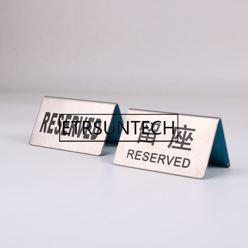 Stainless Steel Reserved Table Sign: 50pcs Stainless Steel Reserved Table Sign Reception