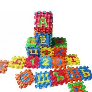 Image 2 - 36 pçs russo alfabeto brinquedo do bebê espuma quebra cabeça esteira eva educacional esteira do jogo do bebê rastejando tapetes tapete de ensino precoce