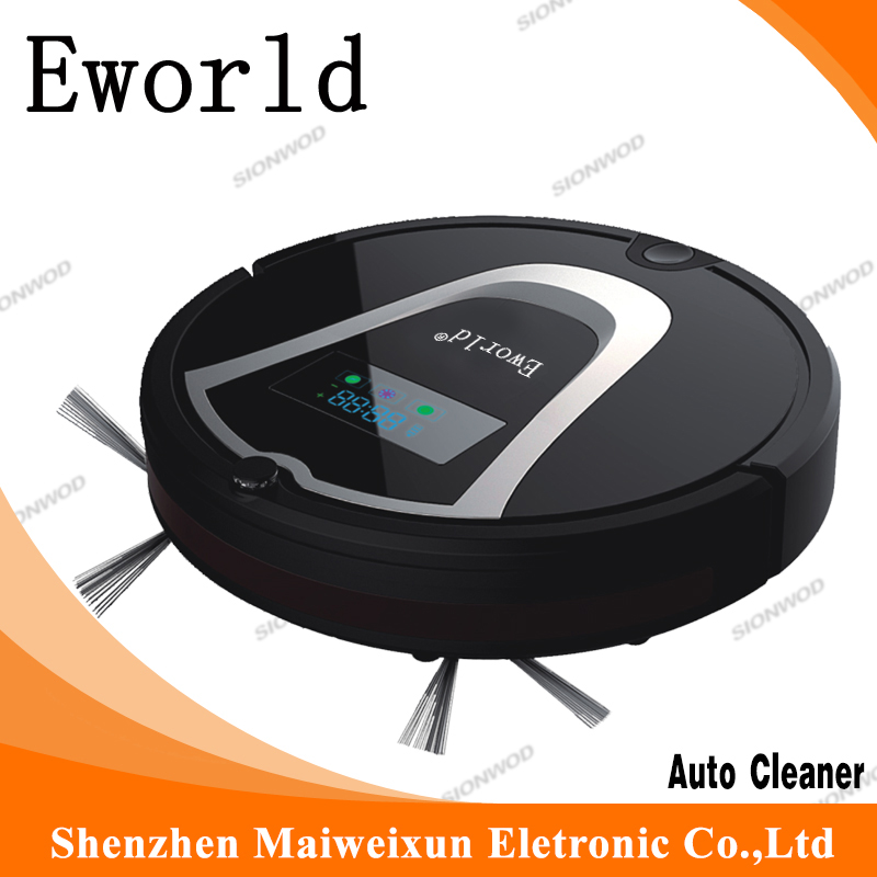 Eworld Cleaning Products ABS Mini Vacuum Cleaner Robot M884 with Auto-Cleaning Vacuum Cleaners For The Home Floor Cleaning eworld abs material auto vacuum cleaners auto recharging vacuum cleaners floor cleaner with mop function and 0 6l dust tank