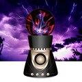 Novo Sem Fio Bluetooth Speaker Portátil Mini Magia Plasma Ball Luz Flash Música Speaker Suporte FM TF Cartão Caixa de Som para iPone