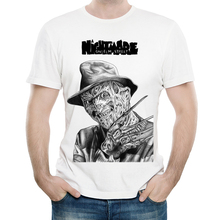 A Nightmare on Elm Street T Shirt Casual Mens Fashion Short Sleeve a Freddy T-shirt Tops Tees tshirt White