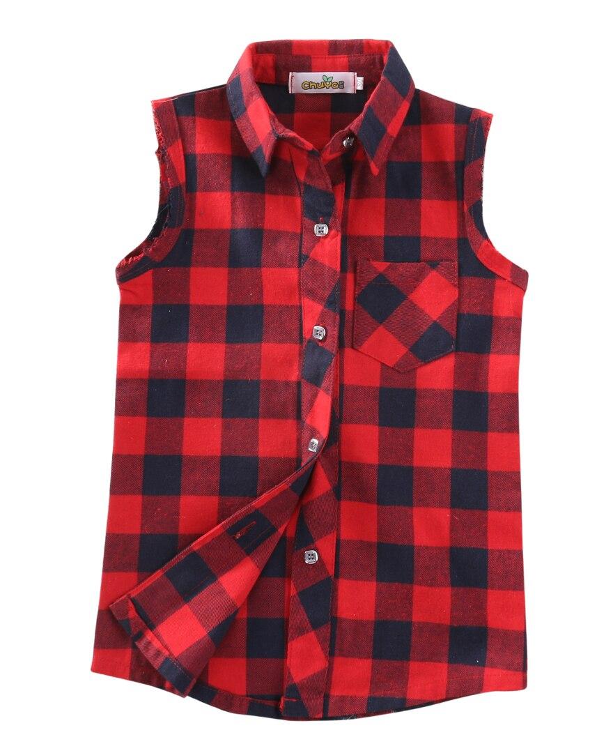 Shirt design for baby girl - Fashion Baby Kids Boys Girls Sleeveless Shirt Plaids Checks Tops Blouses Shirts Clothes Outfits