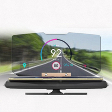 Car Folding GPS HUD Head Up Display Projector Bracket Navigation Phone Holder ABS+PC Unique anti-slip rubber strip