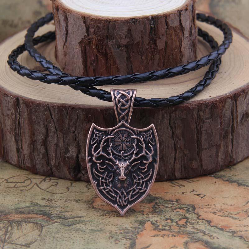 Yage 1pcs θρυλικό Viking Aegishjalmur κολιέ - Κοσμήματα μόδας - Φωτογραφία 3