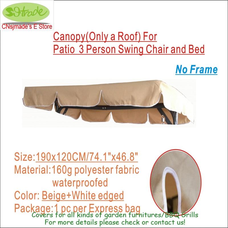 Canopy For Tsling Swing chair, Roof-vervangingsonderdelen, - Tuinbenodigdheden