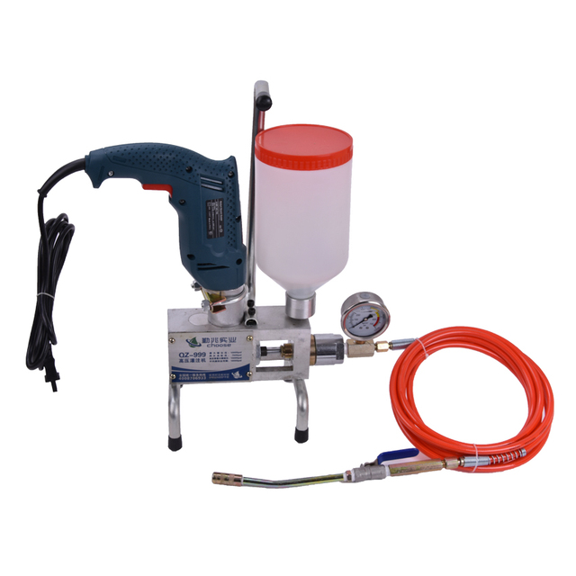 US $158 39 9% OFF|QZ 999 High pressure filling machine Grouting Machine  water proof POLYURETHANE INJECTION PUMP concrete repair crack repair-in  Power