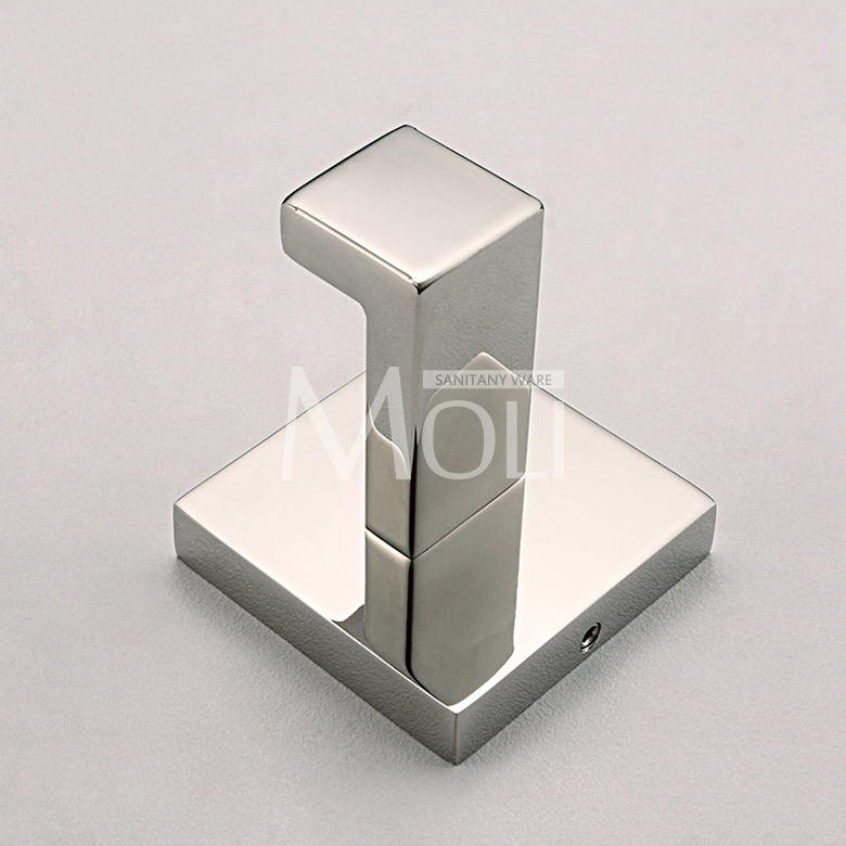 stainless steel bathroom hooks polished robe hook square wall