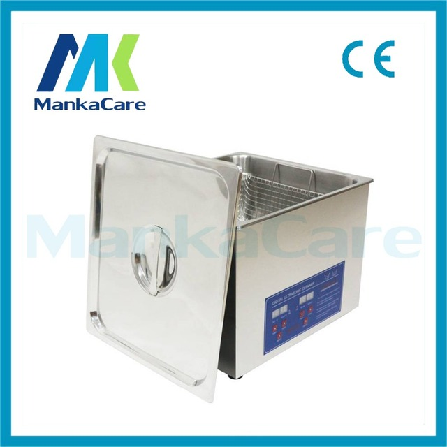 High Power Aço Inoxidável Dental 15L Máquina de Limpeza Ultra-sônica Máquina de Limpeza Digital Aquecida