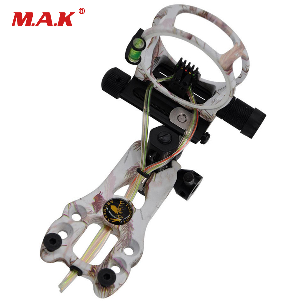 5 Color Archery Hunting Compound Bow Sight 5 Pin Bow Sight 0.019,Micro Adjustable,Tool Less Design new arrival sight adjust tool for 7 62 sks design best quality front sight tool for hunting shooting