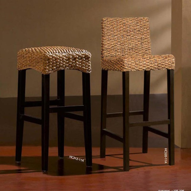 Rotin canne fly ligne r tro minimaliste tabouret de bar Fly chaise de bar