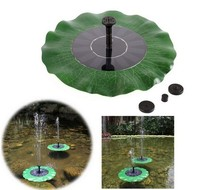 Solar Energy Lotus Leaf Fountain Floating Pool Pond Lake Small Garden Fountain Multi Nozzle Aerated Water
