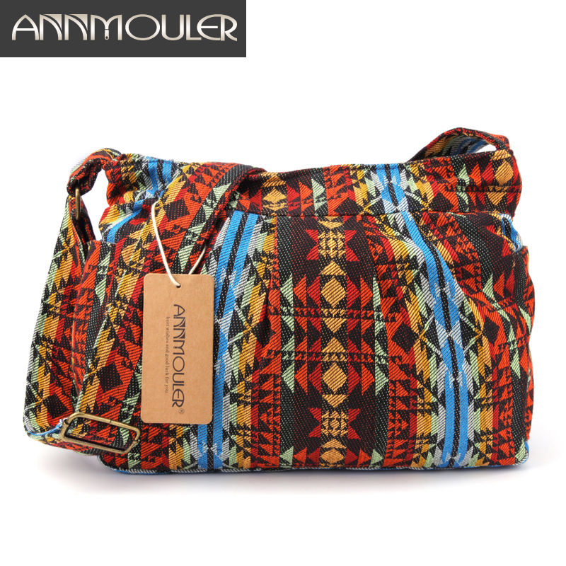 Annmouler Large Capacity Women Shoulder Bag Vintage Brand Crossbody Bag Multi-pockets Messenger Hobo Bag For Girls