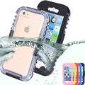 6 s 7 plus caso de mergulho à prova d' água de natação para apple iphone 7 6 6 s transparente crystal clear hard cover para iphone 6 s plus plus 7