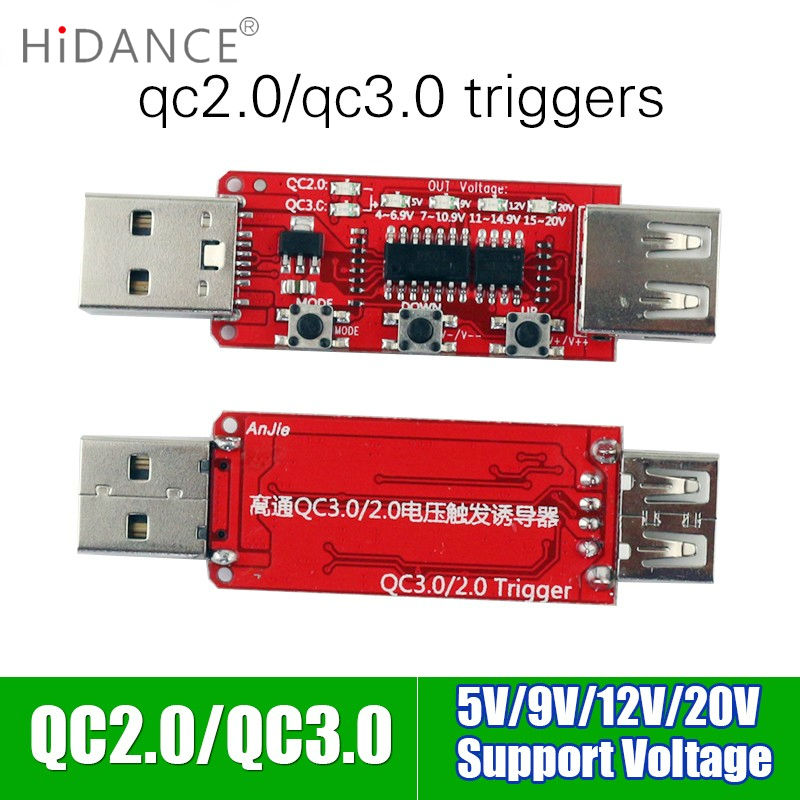 Qualcomm QC2.0 / 3.0 automatische USB-tester instrument voltampèremeter Snellader Power Bank Spanningstrigger