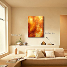 High quality handmade Abstract painting Nordic Style Gold Oil Painting Home Decoration Canvas art Wall Pictures For Living Room