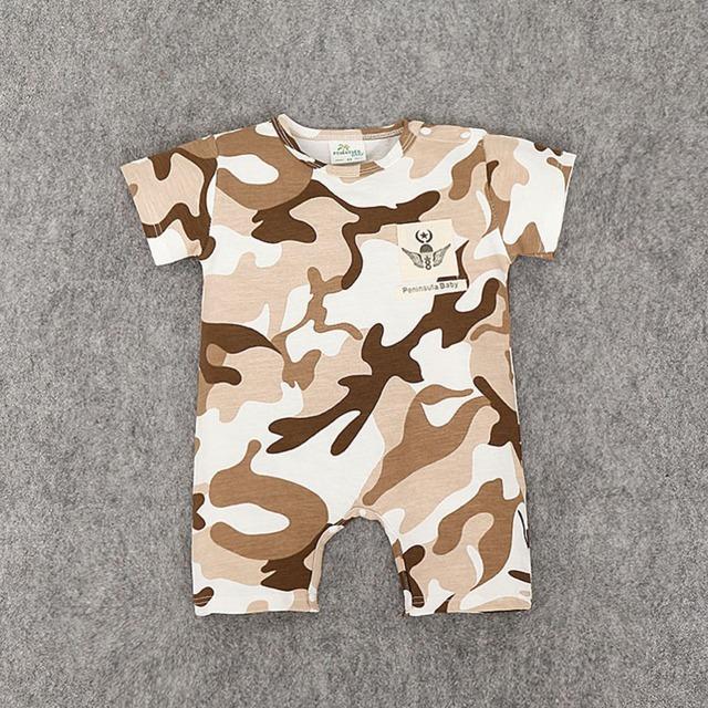 Nuevo 2016 Camuflaje de manga corta de algodón ropa de bebé de alta calidad recién nacido bebé niño y niña ropa infantil mono
