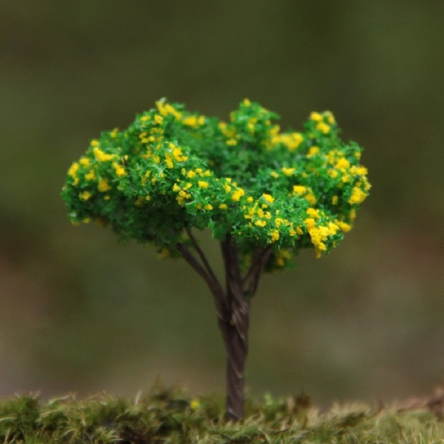 Groceries Creative False Tree Yellow Flowers And Trees Resin Figure