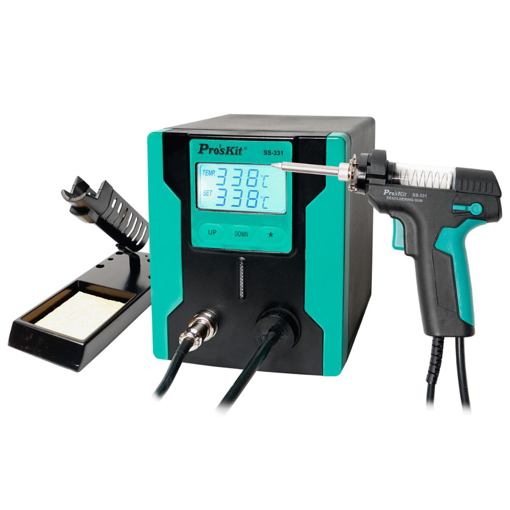 New Release ProsKit SS-331H Electric Desoldering Gun LCD Digital Display BGA Desoldering Vacuum Suction Solder Sucker Pump New Release ProsKit SS-331H Electric Desoldering Gun LCD Digital Display BGA Desoldering Vacuum Suction Solder Sucker Pump