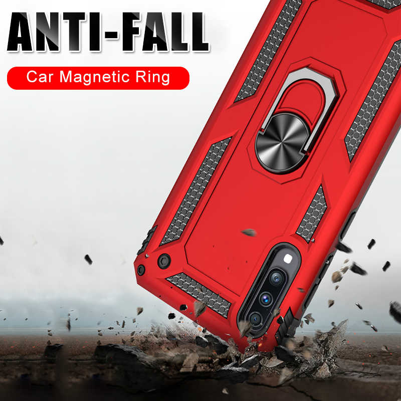 Luxury Shockproof Armor Phone Case On The For Samsung Galaxy A50 A70 A10 A20 A30 A40 A7 2018 M10 M20 M30 Car Ring Bracket Cases
