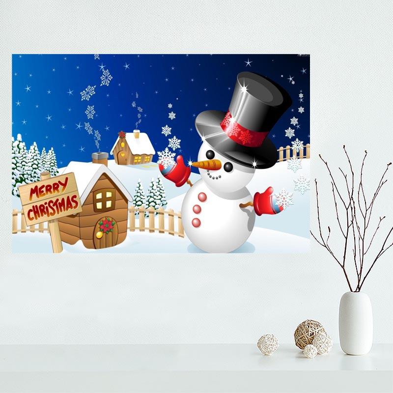 niza feliz navidad de la lona pintura impresin del cartel del arte de la pared seda cartel de tela tela de la imp