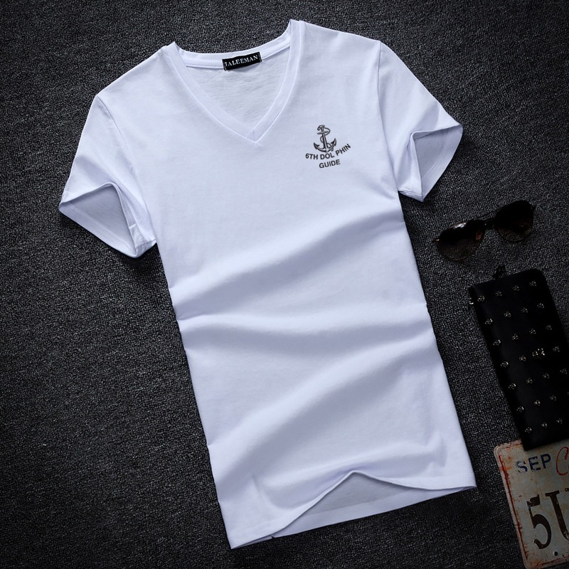 2018 New summer Solid Men's   T     Shirt   Fashion V Neck Long Sleeve   T     Shirt   Mens Clothing Trend Casual Slim Fit Top Tees Plus Size5Xl