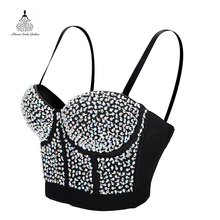 bc701ee50d Buy rhinestone corset tops and get free shipping on AliExpress.com