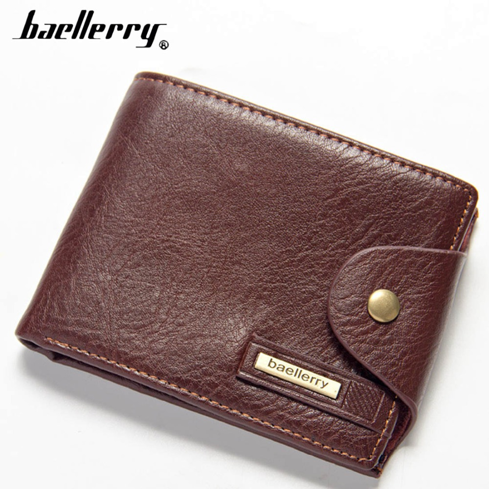 Baellerry Men Wallets short Top PU Leather High Quality Men Purse Business Male Wallet Black Card Holder Men Wallet cartera j m d hot sale high quality classic brown real leather mini wallet purse key case men s hand bag cartera freeshipping 8023b