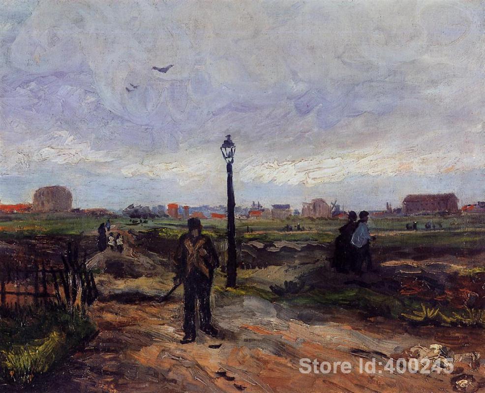 ⑧Arte de la reproducción del aceite de Vincent van Gogh las afueras ...