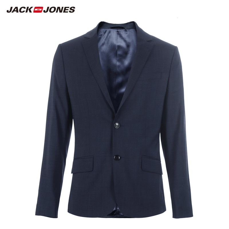 JackJones Men's Slim Fit Two-button Woolen Blazer Suit Jacket Menswear 219172508