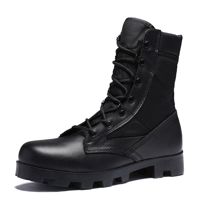100% Wahr Neue Ultraleicht Männer Armee Stiefel Hight Geschnitten Military Schuhe Leder Taktische Stiefeletten Jungle Stiefel Outdoor Schuhe Plus Dr. Martins