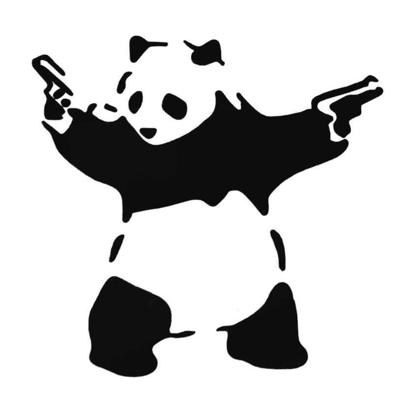 Panda encantador com Duas Armas 3D Janela Do Caminhão Do Carro Adesivo Refletivo Decalque Panda Bonito Corpo Adesivo de Carro Car Styling Auto Móvel beleza