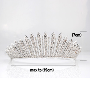 Image 5 - Awesome Miss Beauty Pageant Tiara Crown Clear Crystals Brides Headband Hair Accessory Wedding Bridal Prom Party Costumes 318g