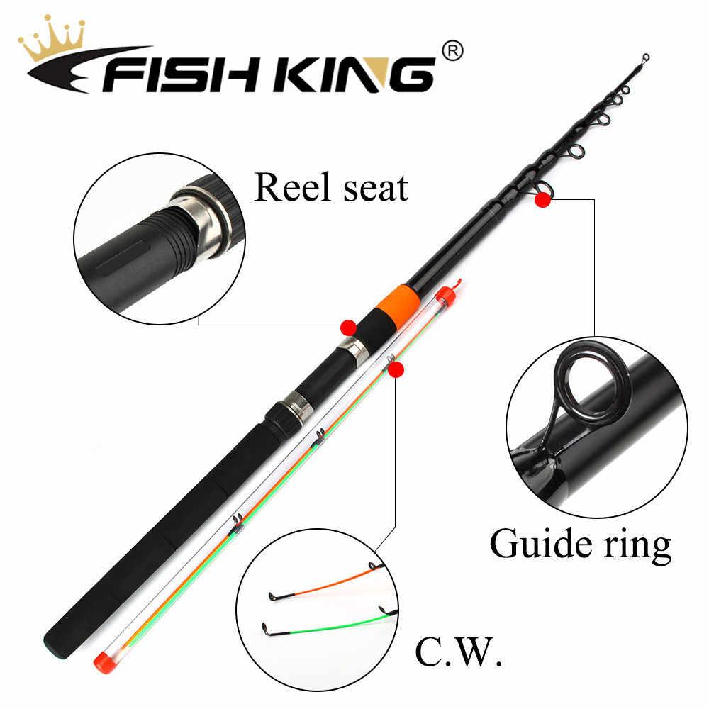 Рыбы король подачи стержня CW 120 г особо тяжелых телескопическая удочка подачи стержни 3,0 м-3,9 м 2 раздела 60% углеродного волокна