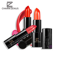 CHARM ZENUS Brand Make Up Red Sexy Lipstick Long Lasting Beauty Waterproof Moisture Bright And Silky New