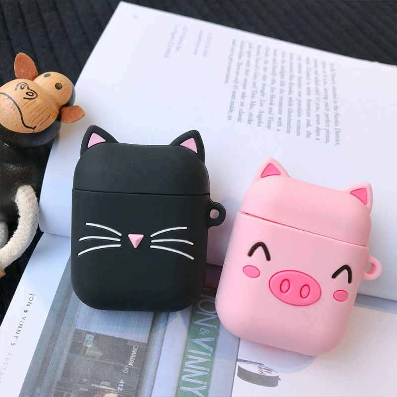 Cute Cartoon Silicone Wireless Bluetooth Earphone Protective Case Cover for for Apple Airpods 1 2 Headphone Charging Box Accesso in Earphone Accessories from Consumer Electronics
