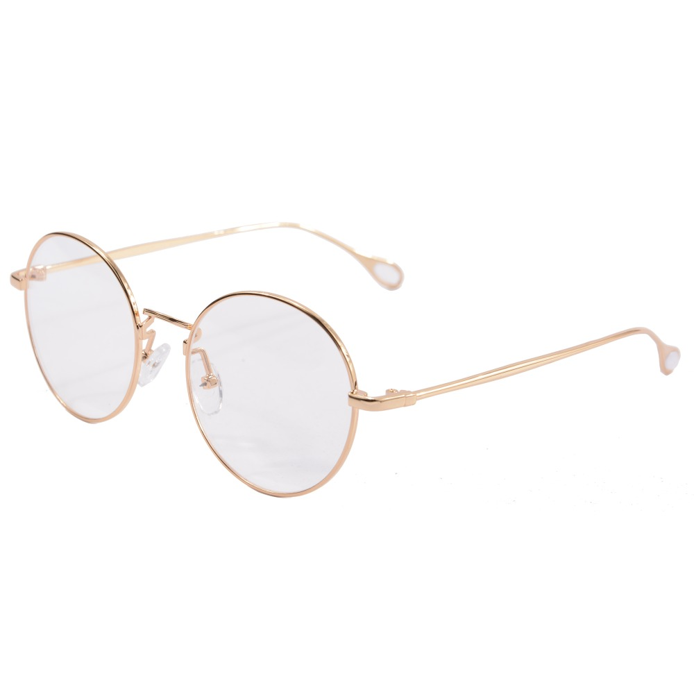 Vintage Round Eyeglass Frames Gold Harry Potter Glasses Metal Frame Glass montures de lunette 2757