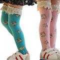 Baby Girls Little Lace Flower High Stocking Knee High In Tube Stockings QL