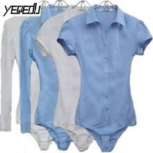 2101 боди рубашка женская летняя черная синяя белая блузка женская с длинным рукавом боди Feminino женские рубашки модная офисная леди