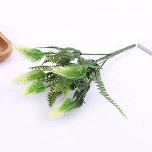 Simulation Loose End Grass Wedding Background Plant Wall Artificial Flowers pei cai Plastic Fake Garden Decoration R