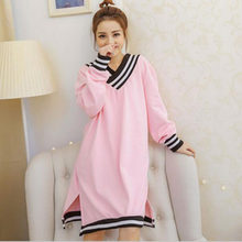 403efa57fb V-neck sexy long-sleeved nightgown girls pink pajamas cute princess  household to take