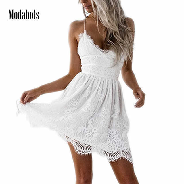 6d373b6cba9 Heyouthoney boho Elegant Spaghetti Strap Cute Women sundress Summer Dress  Beach Dresses white black Sexy sleeveless Vestidos-in Dresses from Women's  ...