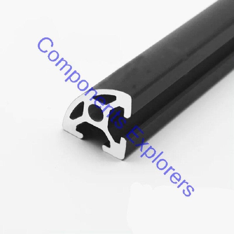 Arbitrary Cutting 1000mm 2020 Black Arc Aluminum Extrusion Profile,Black Color.