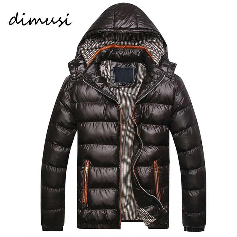 DIMUSI New Men Winter Jacket Fashion Hooded Thermal Down Cotton Parkas Male Casual Hoodies Brand Clothing Warm Coat 4XL,PA064 new 2016 winter men coat brand clothing casual x long hooded thick warm down jacket parkas men overcoats size s xxxl