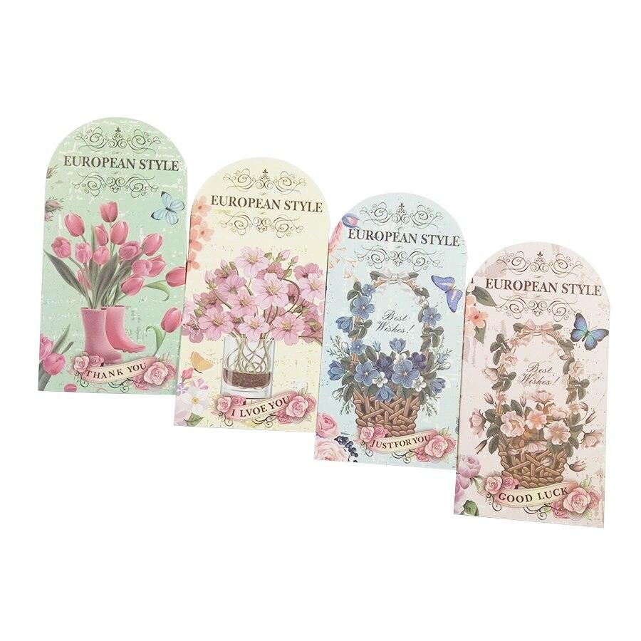 1 Teile/los Heteromorphism Bunte Blumen Postkarte Grußkarte Geburtstagskarte Papier Lesezeichen Schreibwaren HeißEr Verkauf 50-70% Rabatt