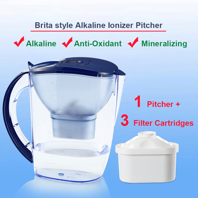 Household Water Filter Dispenser Pitcher 35L Brita Style Mineral